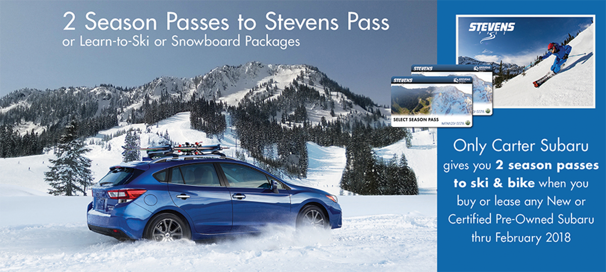 Two Season Passes to Stevens Pass from Carter Subaru